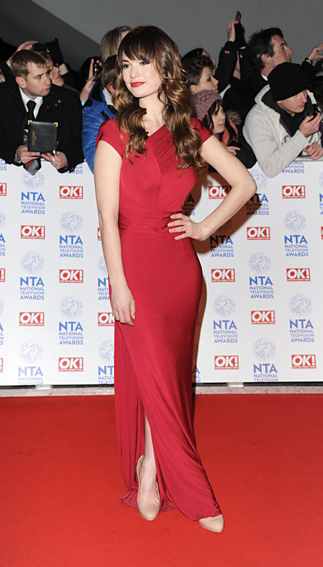 lily3 Lily James in Donna Karan at Britains National Television Awards