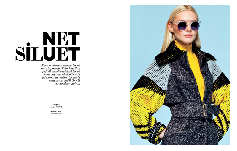 lofficiel turkey Enly Looks Ready to Hit the Slopes in LOfficiel Turkey January 2013 by Ceylan Sözer