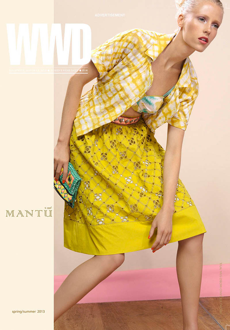 mantu1 Diana Meszaros Shows Off Mantùs S/S 2013 Collection in WWD by Stefano Moro Van Wyk