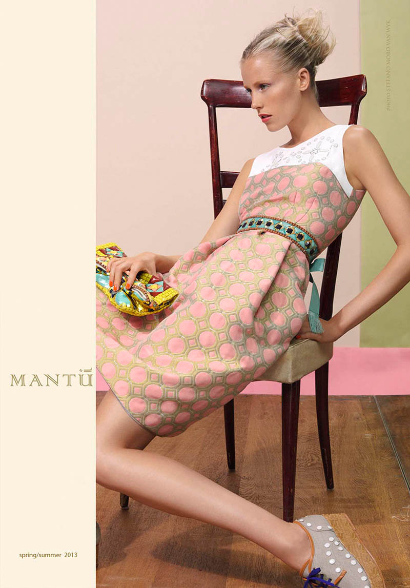 mantu2 Diana Meszaros Shows Off Mantùs S/S 2013 Collection in WWD by Stefano Moro Van Wyk