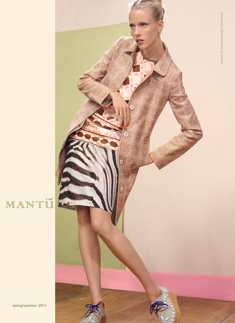 mantu4 Diana Meszaros Shows Off Mantùs S/S 2013 Collection in WWD by Stefano Moro Van Wyk