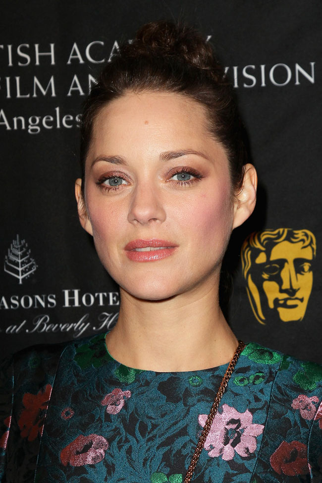 marion1 Marion Cotillard in Erdem at 2013 BAFTA Awards Season Tea Party