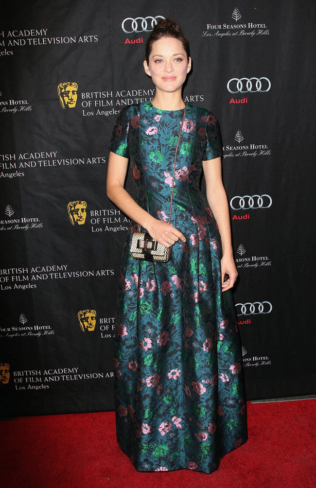 marion3 Marion Cotillard in Erdem at 2013 BAFTA Awards Season Tea Party