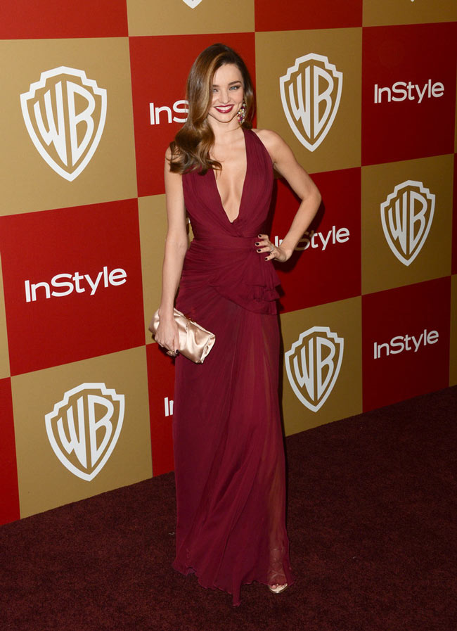 miranda globes2 Miranda Kerr in Zuhair Murad at the Warner Bros. and InStyle Golden Globes After Party