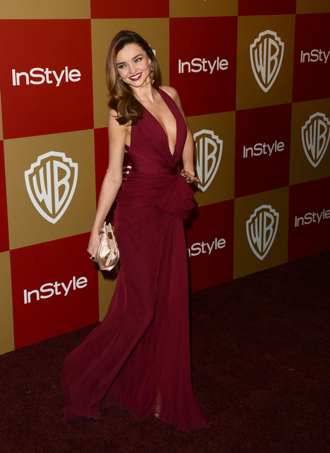 miranda globes3 Miranda Kerr in Zuhair Murad at the Warner Bros. and InStyle Golden Globes After Party