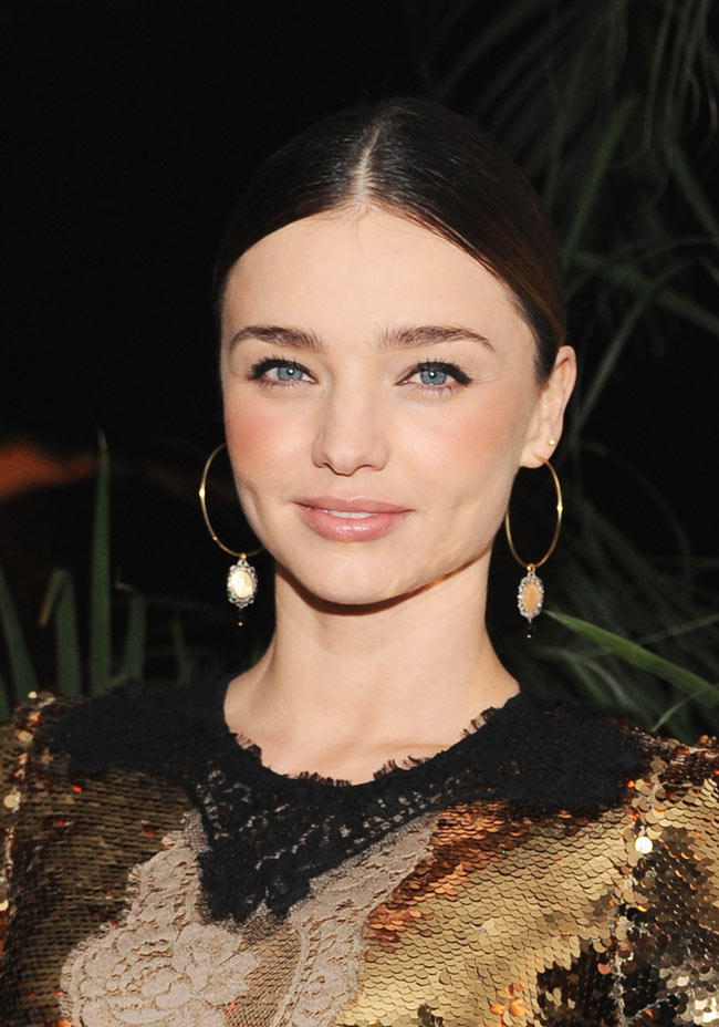 miranda1 Miranda Kerr in Dolce & Gabbana at the Dom Perignon and W Magazine Golden Globes Celebration