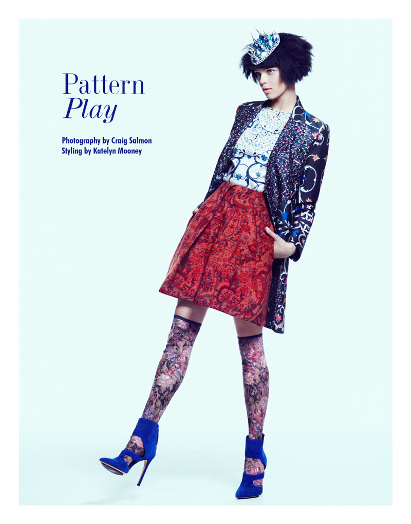 "Olga Butkiewicz by Craig Salmon in ""Pattern Play"" for Fashion Gone Rogue"