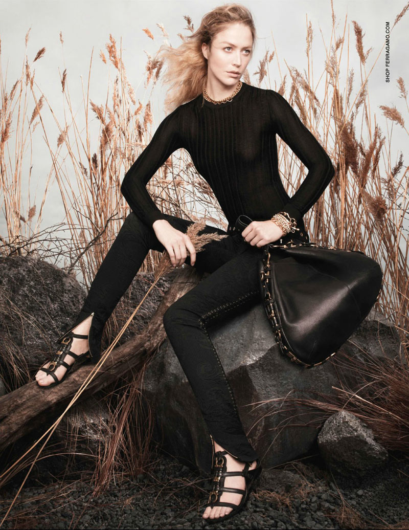 salvatore2 Raquel Zimmermann Poses for Salvatore Ferragamos Spring 2013 Campaign by David Sims