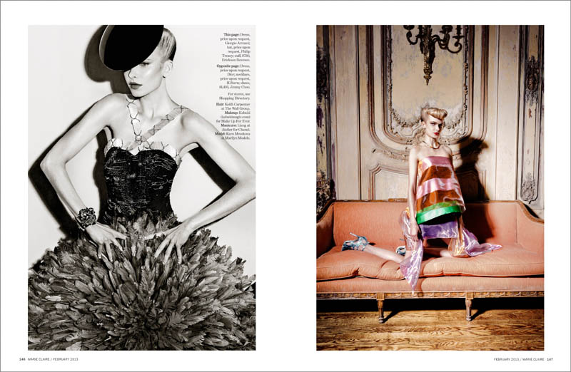 siren4 Karo Mrozkova Dons Retro Style for Marie Claire US February 2013 by Jean Francois Campos