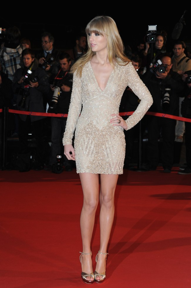 Taylor Swift in Elie Saab at the 2013 NRJ Music Awards