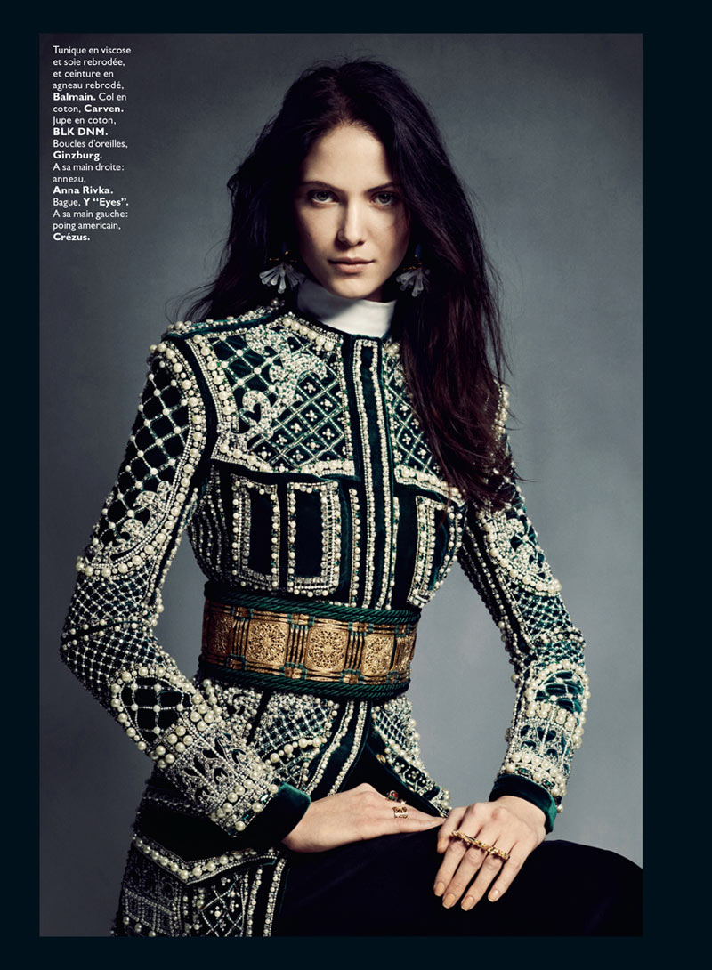 0170 MODE Baroq bat 2 1a Honer Akrawi Captures Maria Flávia Ferrari and Alexandra Tikerpuu in Baroque Luxe for Grazia France