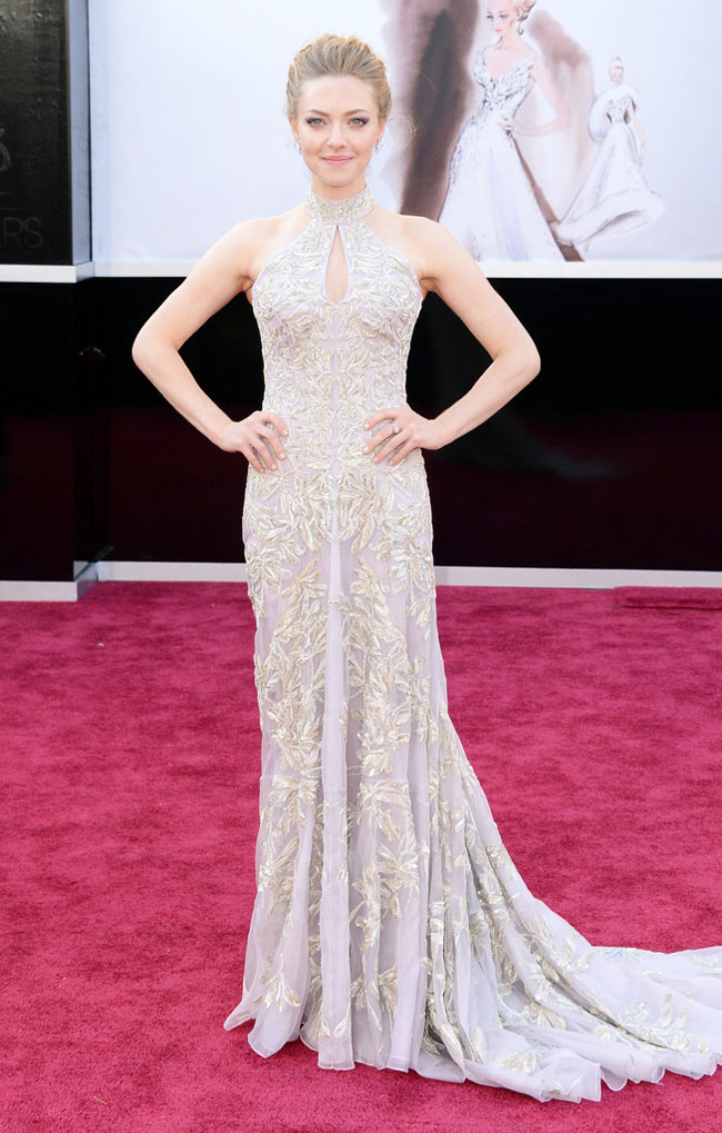 Amanda McQueen2 Amanda Seyfried in Alexander McQueen at the 85th Annual Academy Awards