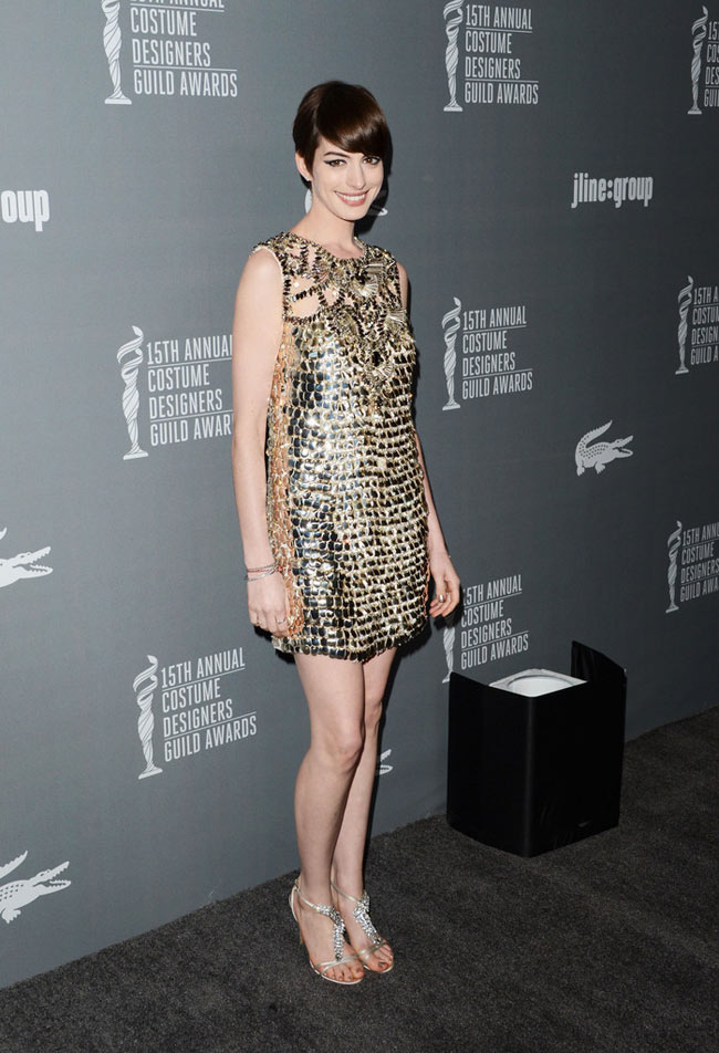 Anne Gucci3 Anne Hathaway in Gucci at the 15th Annual Costume Designers Guild Awards