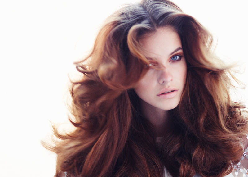 Barbara Palvin Models Spring Beauty Trends for Glamour UK's March Issue, Shot by Simon Emmett