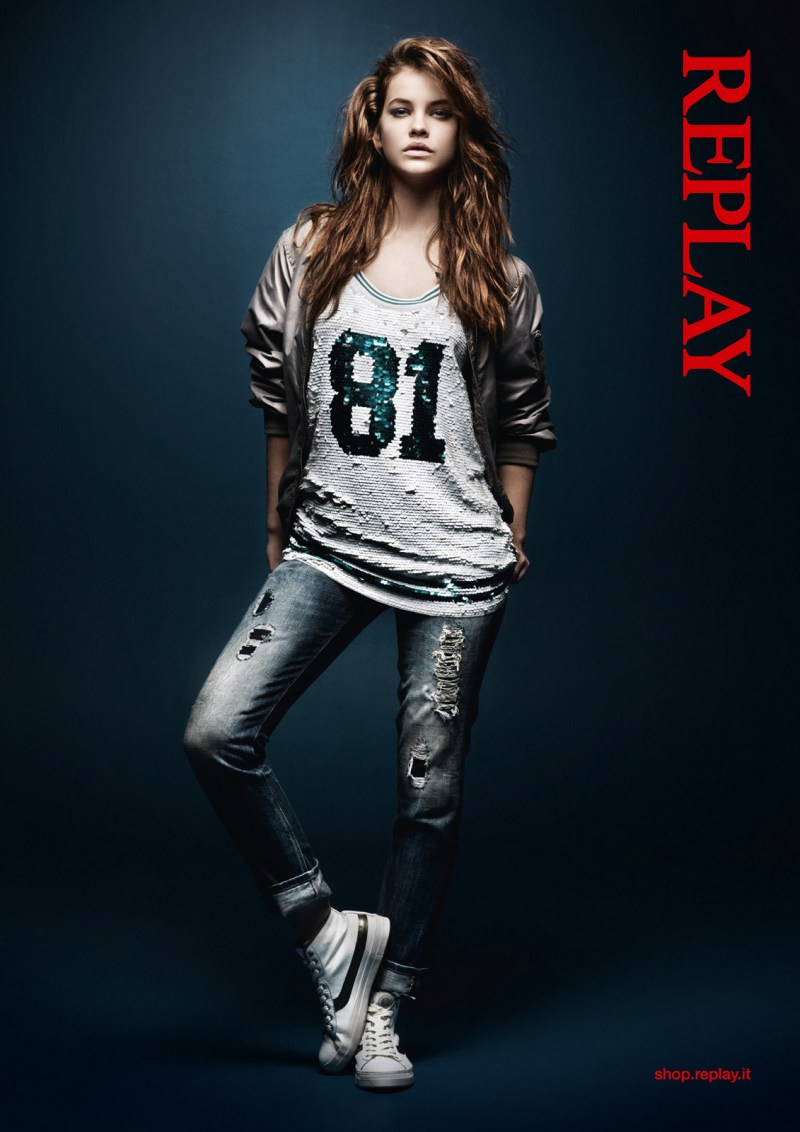 Barbara Replay2 Barbara Palvin Stars in Replays Spring 2013 Campaign