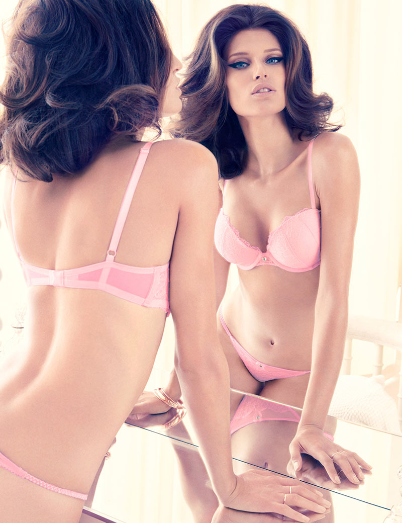 Bianca HM1 Bianca Balti Seduces in H&M Valentines Day Lingerie Collection