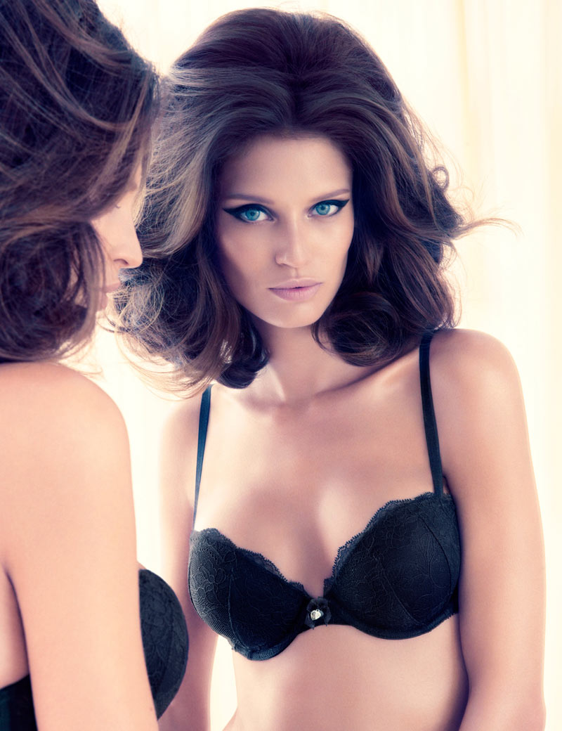 Bianca HM2 Bianca Balti Seduces in H&M Valentines Day Lingerie Collection