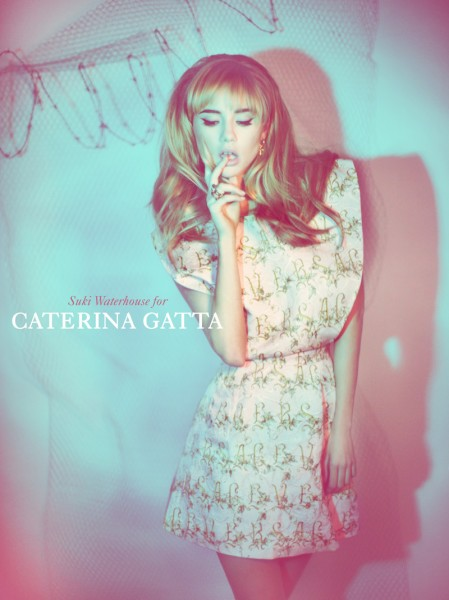 Suki Waterhouse Seduces in Caterina Gatta Spring 2013 Campaign by Paolo Santambrogio