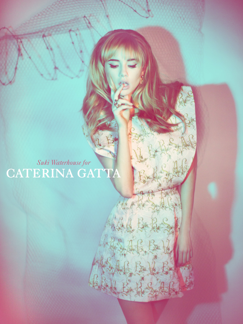 Caterina Gatta SS13 1 Suki Waterhouse Seduces in Caterina Gatta Spring 2013 Campaign by Paolo Santambrogio
