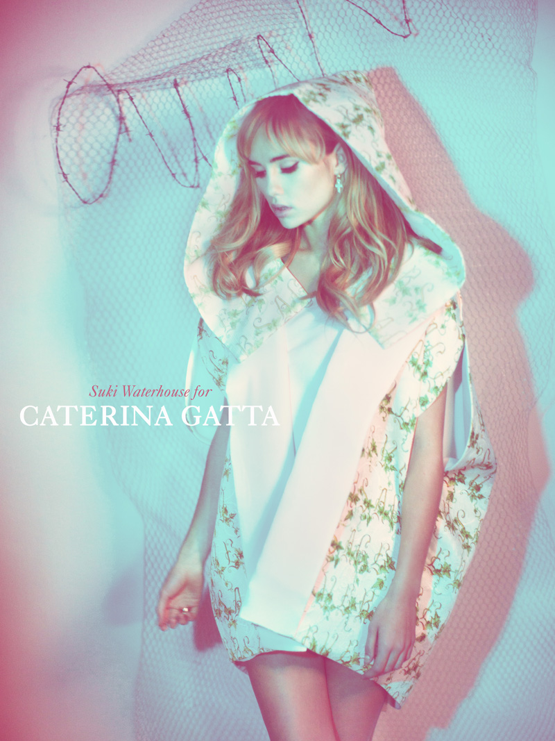 Caterina Gatta SS13 3 Suki Waterhouse Seduces in Caterina Gatta Spring 2013 Campaign by Paolo Santambrogio