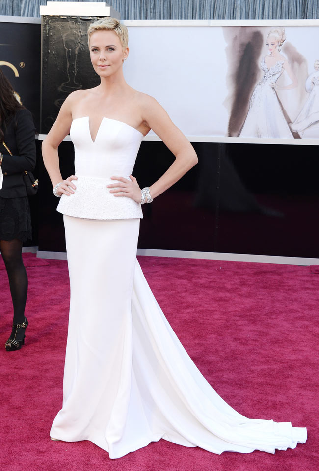 Charlize Dior1 Charlize Theron in Dior Haute Couture at the 85th Annual Academy Awards