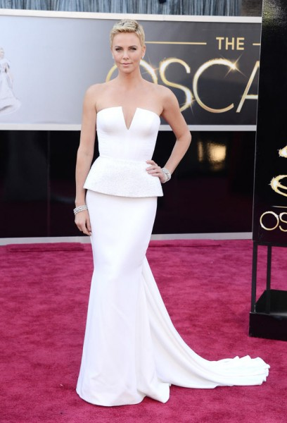 Charlize Theron in Dior Haute Couture at the 85th Annual Academy Awards
