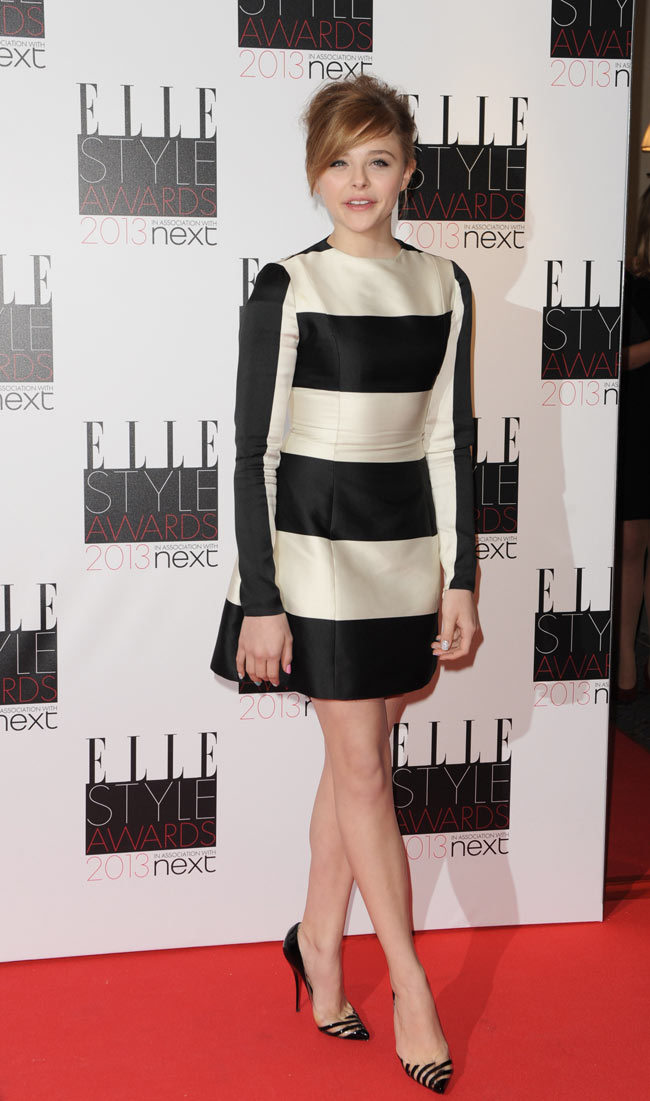 Chloe Elle1 Chloe Moretz in Stella McCartney at the ELLE UK Style Awards