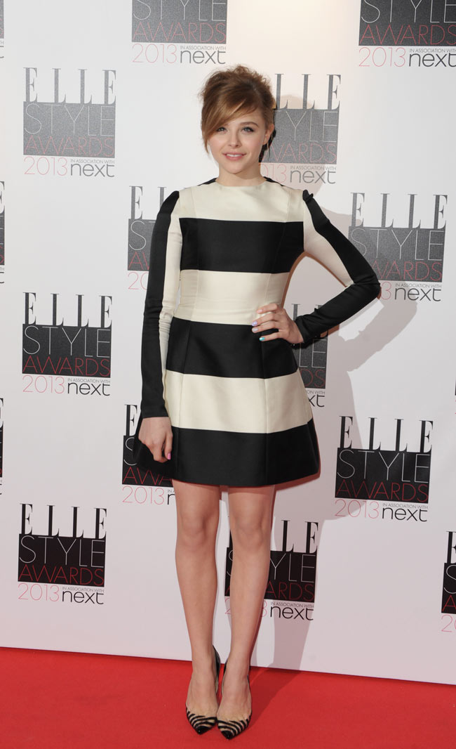 Chloe Elle3 Chloe Moretz in Stella McCartney at the ELLE UK Style Awards