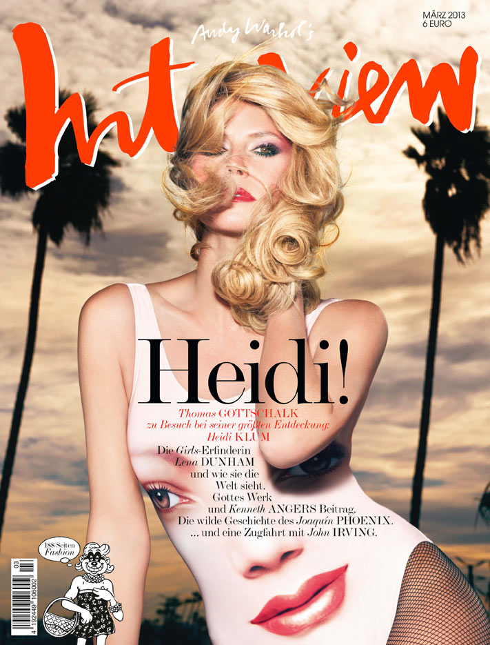 Cover Interview Heidi Klum Heidi Klum Seduces on the March 2013 Cover of Interview Germany