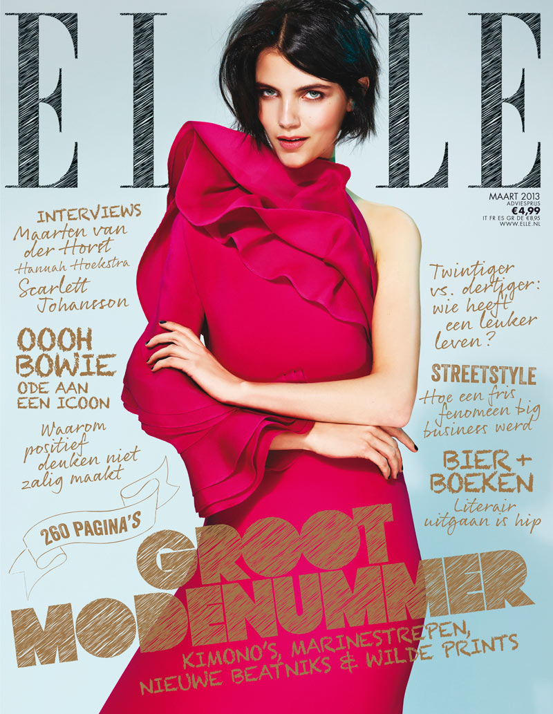 Elle March NL Agnes Nabuurs Wears Gucci for Elle Netherlands March 2013 Cover