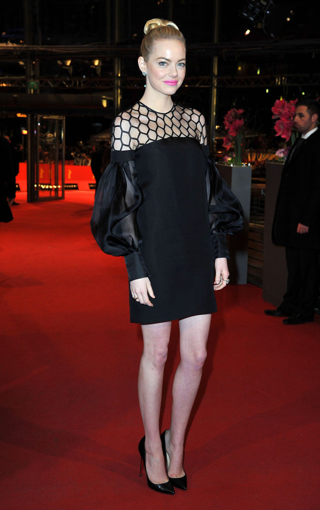 Emma Gucci1 Emma Stone in Gucci at The Croods Premiere at the 63rd Berlinale Film Festival