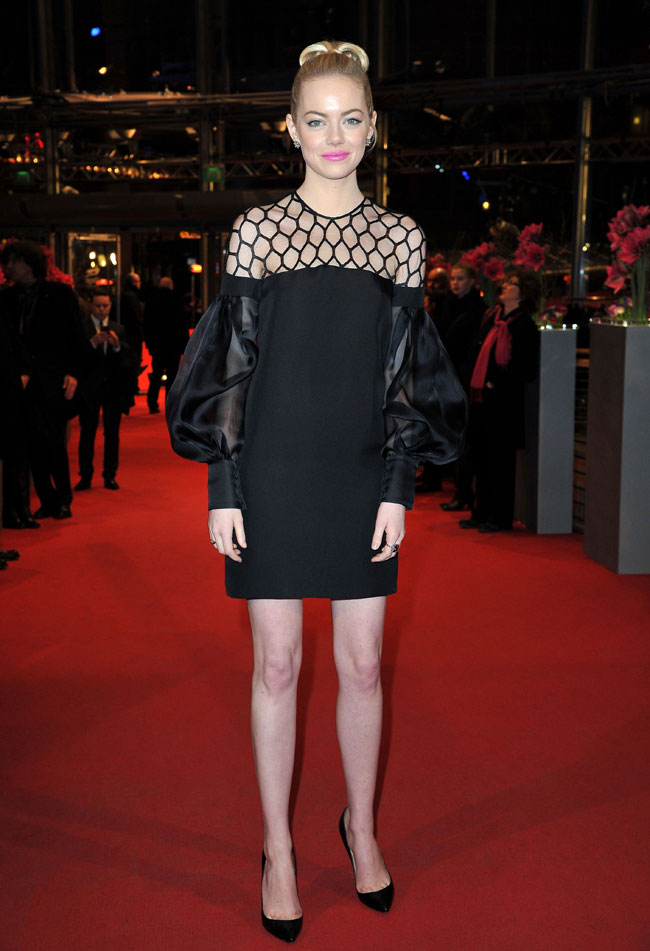 """Emma Stone in Gucci at """"The Croods"""" Premiere at the 63rd Berlinale Film Festival"""