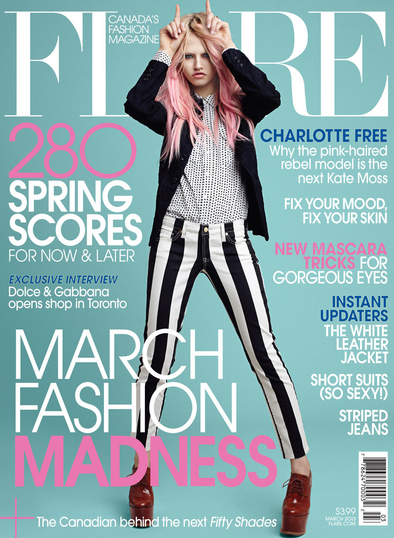 FLR03 001 Charlotte Free Covers Flares March 2013 Issue