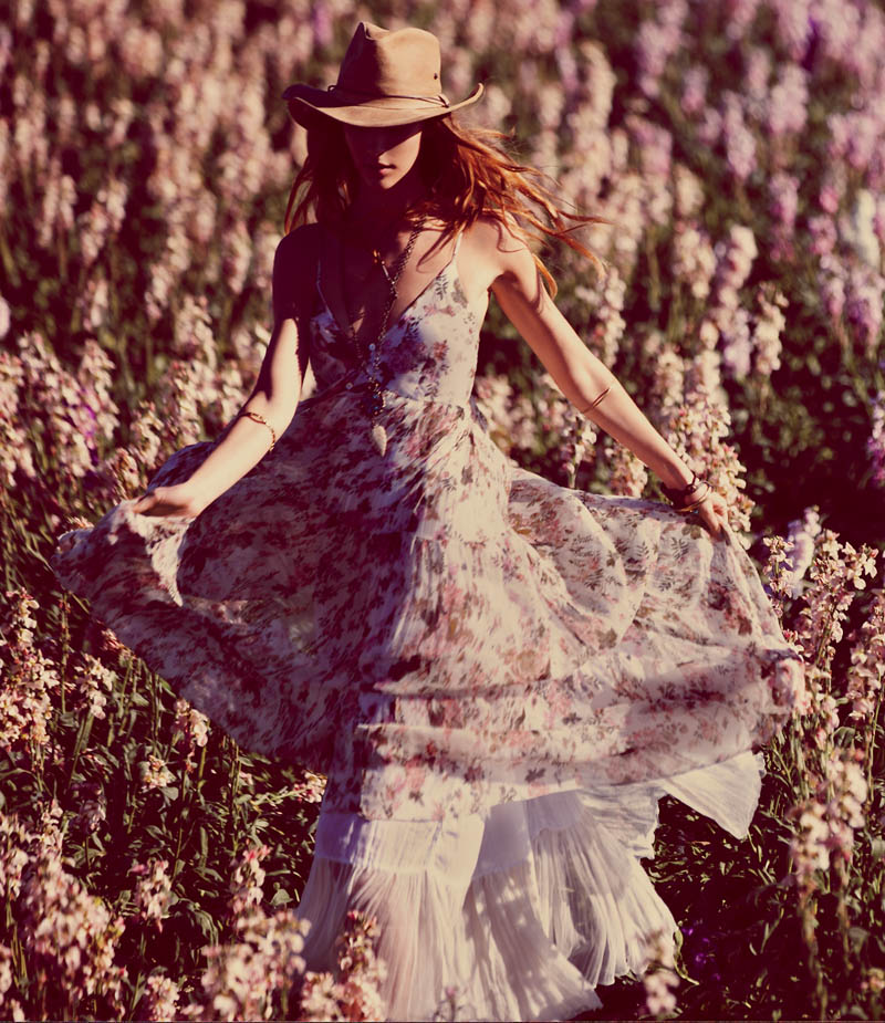FP March 2013 Book 1 Free People Taps Flower Girls Fei Fei Sun, Martha Hunt, Alana Zimmer and Dorothea Barth Jorgensen for March Lookbook