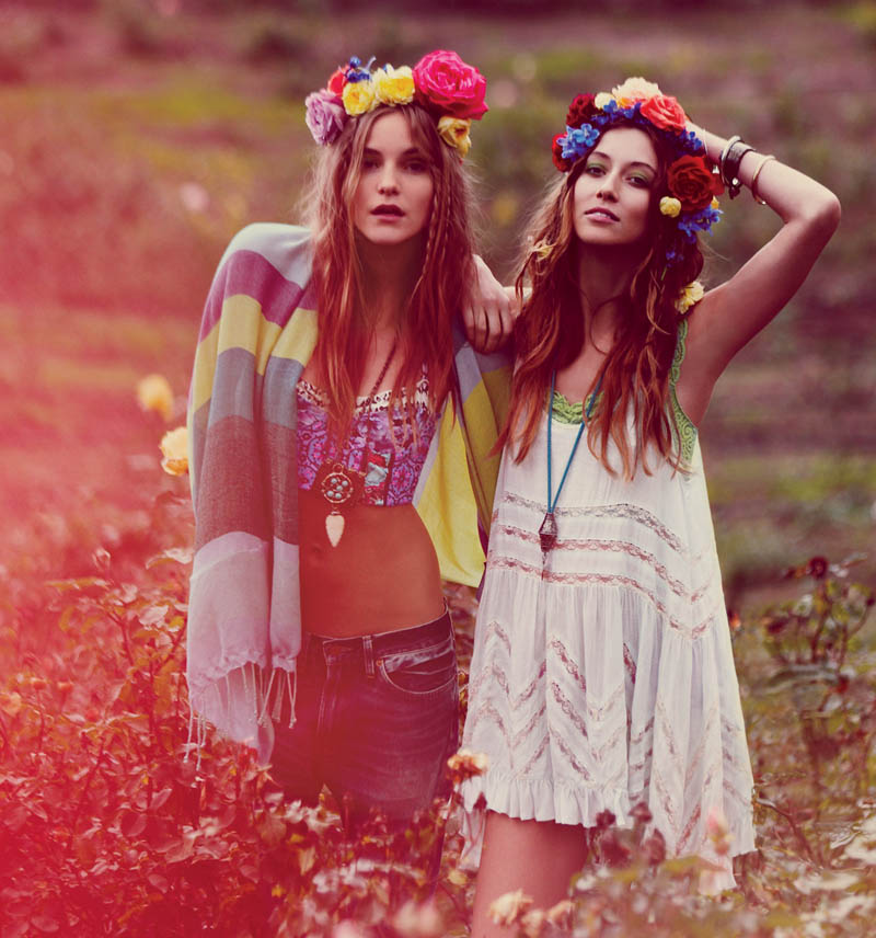 Free People Taps Flower Girls Fei Fei Sun, Martha Hunt, Alana Zimmer and Dorothea Barth Jorgensen for March Lookbook