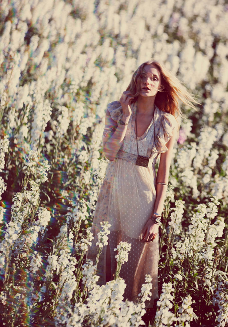 FP March 2013 Book Free People Taps Flower Girls Fei Fei Sun, Martha Hunt, Alana Zimmer and Dorothea Barth Jorgensen for March Lookbook
