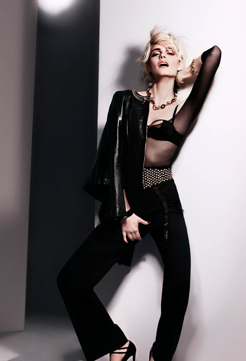 Nimue Smit Emulates Madonna in Glamour Netherlands' February Issue by Philip Riches