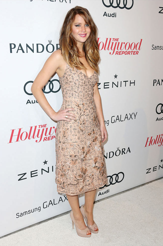 Jennifer LA3 Jennifer Lawrence in Valentino at The Hollywood Reporter Nominees Night 2013