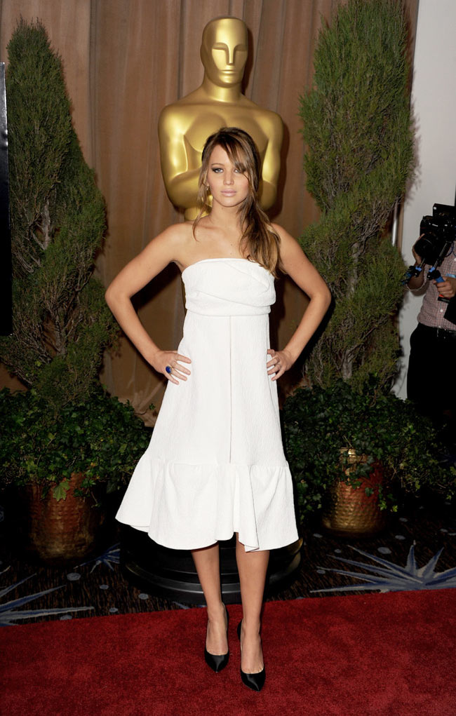 Jennifer Lawrence1 Jennifer Lawrence in Chloe at the 85th Annual Academy Awards Nominees Luncheon