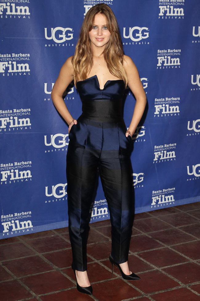 Jennifer Stella1 Jennifer Lawrence in Stella McCartney at the Santa Barbara Film Festival