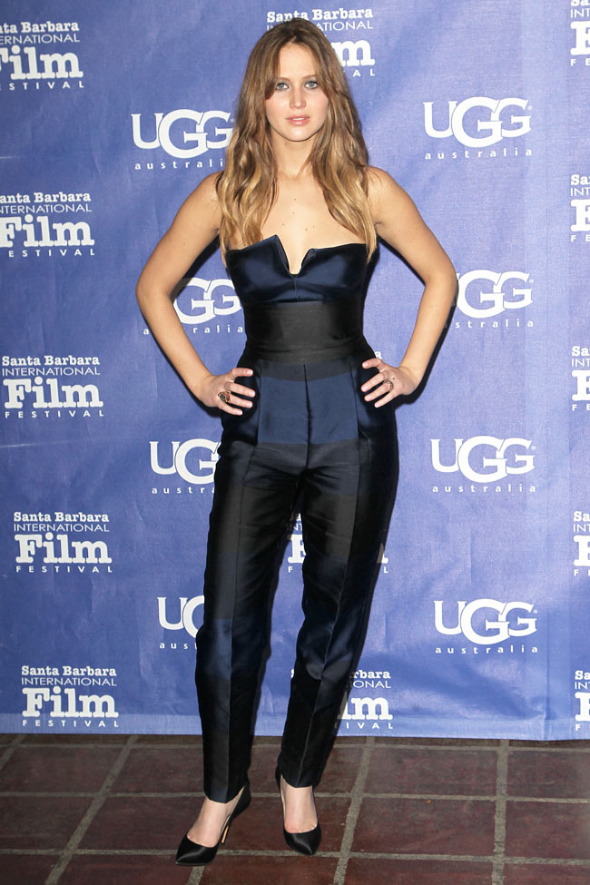 Jennifer Stella2 Jennifer Lawrence in Stella McCartney at the Santa Barbara Film Festival