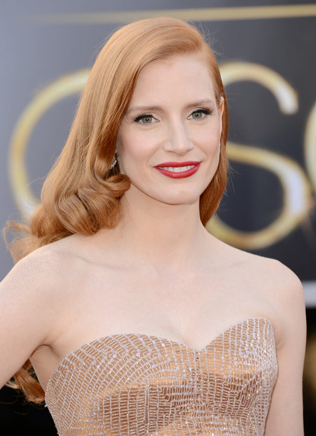 Jessica Armani3 Jessica Chastain in Armani Prive at the 85th Annual Academy Awards