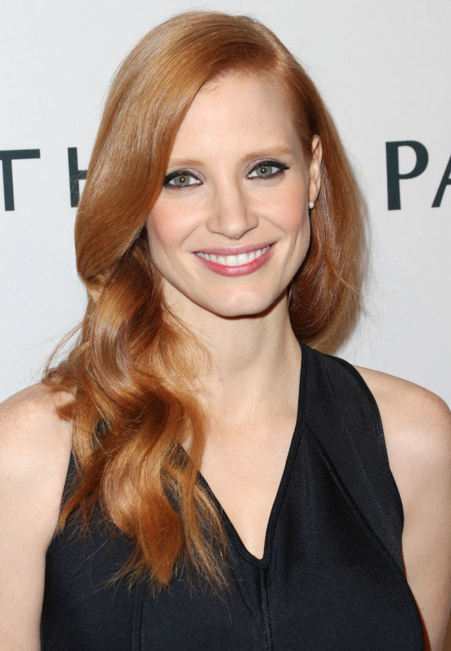 Jessica Givenchy3 Jessica Chastain in Givenchy at The Hollywood Reporter Nominees' Night 2013