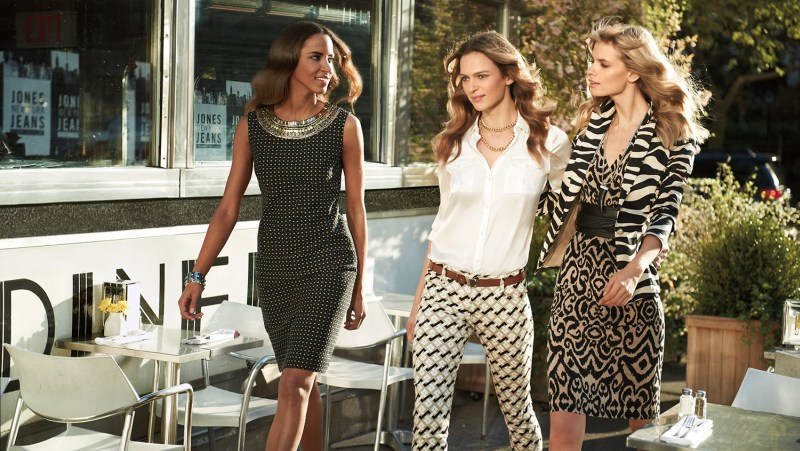 JonesNY1 Julia Stegner, Elise Crombez and Noemie Lenoir Star in Jones New York Spring 2013 Campaign
