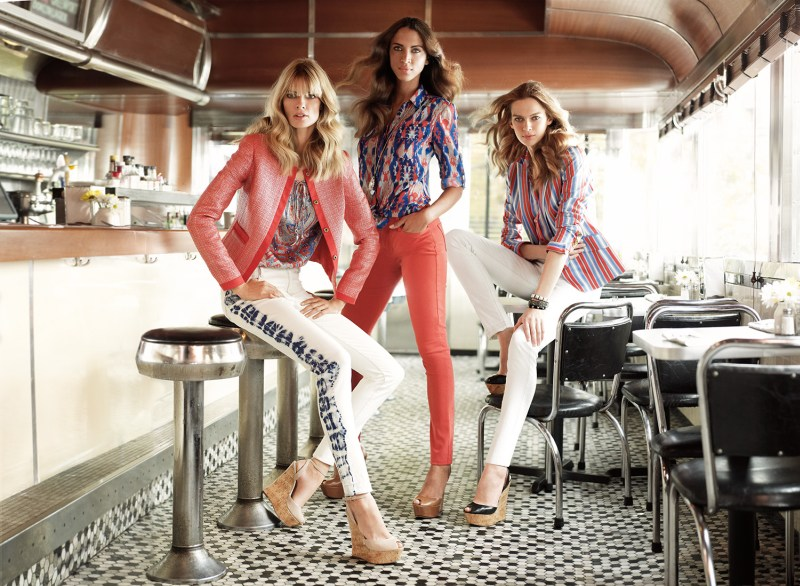 JonesNY2 Julia Stegner, Elise Crombez and Noemie Lenoir Star in Jones New York Spring 2013 Campaign