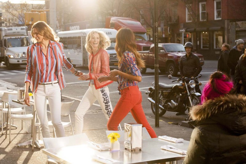 JonesNY6 Julia Stegner, Elise Crombez and Noemie Lenoir Star in Jones New York Spring 2013 Campaign