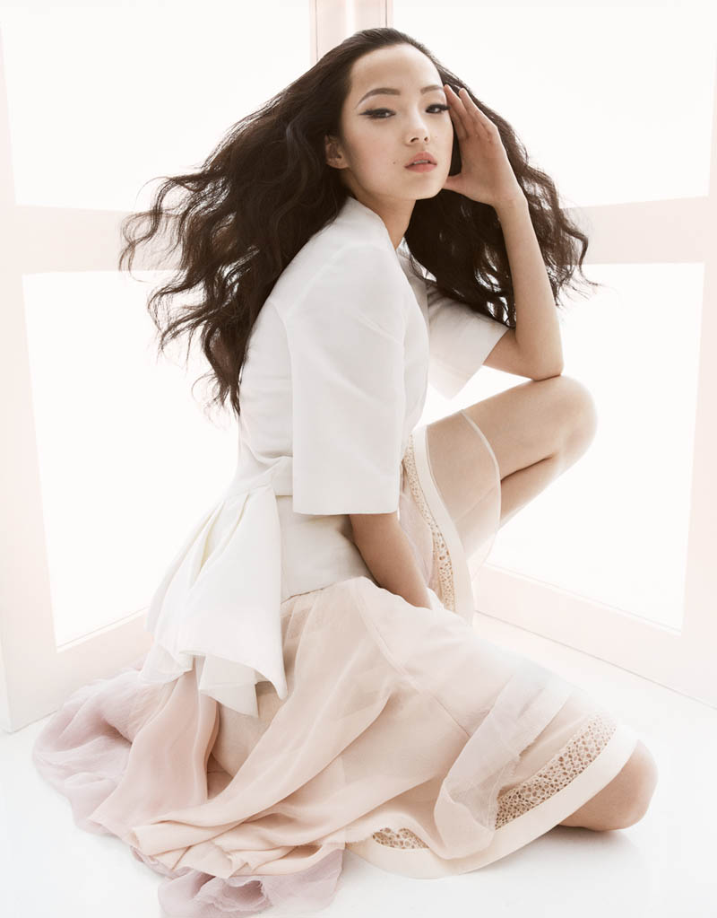 Kadel China6 Xiao Wen Ju Poses for Greg Kadel in Pastels for Vogue China March 2013