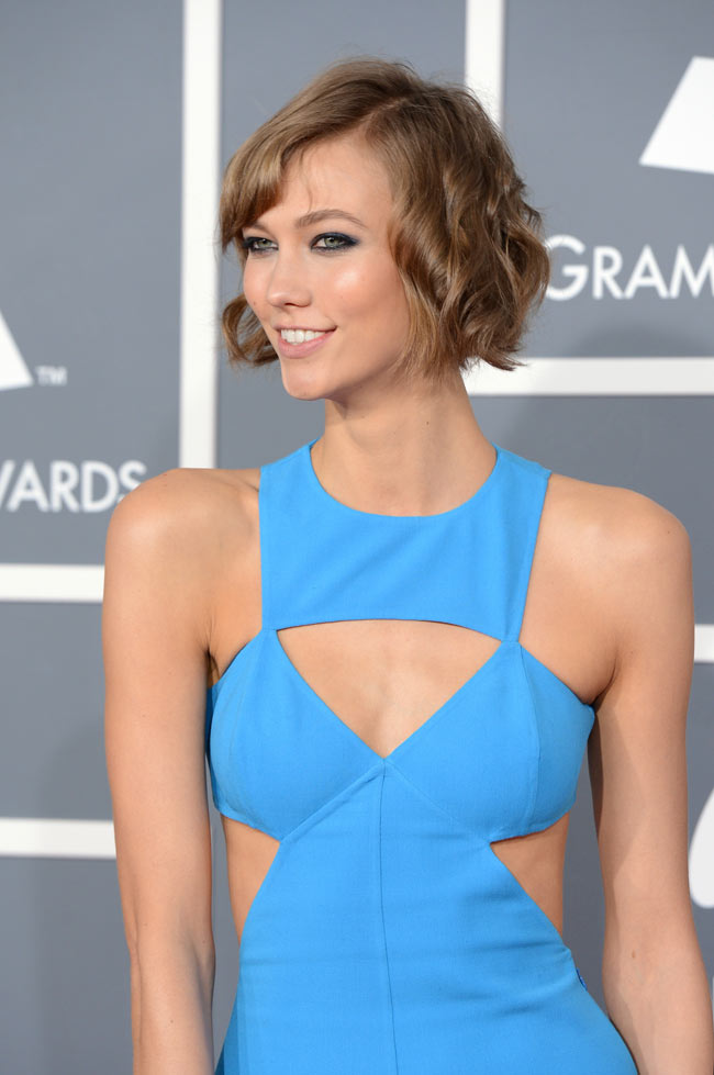Karlie Kloss in Michael Kors at the 55th Annual Grammy Awards