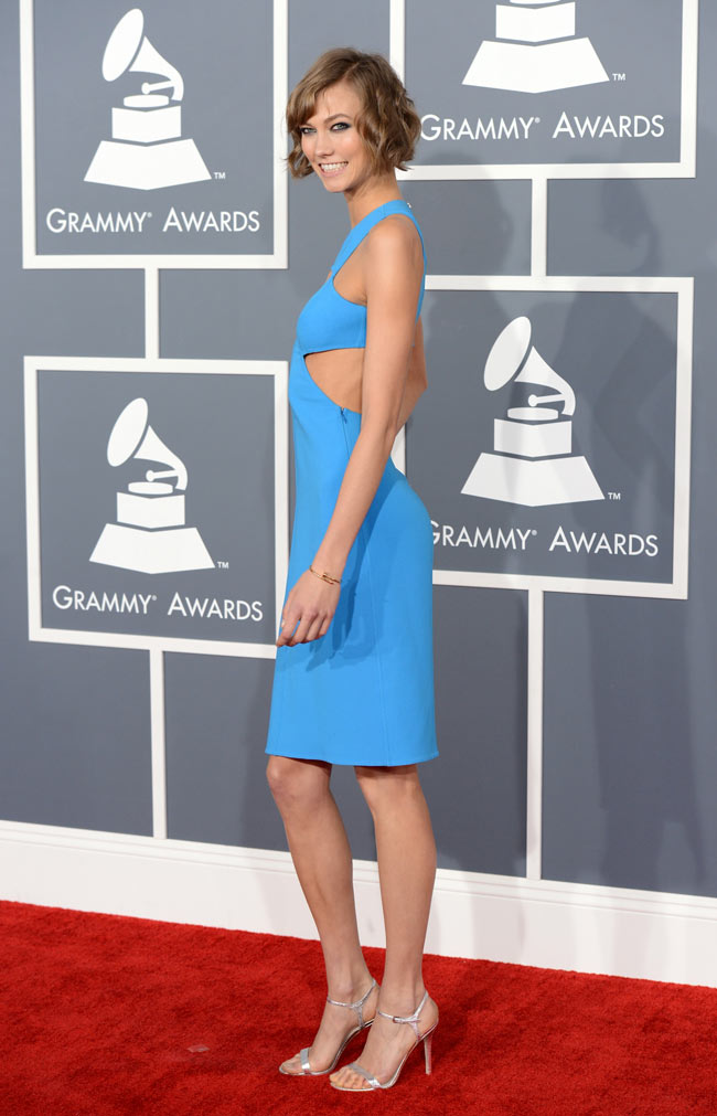 Karlie Grammys1 Karlie Kloss in Michael Kors at the 55th Annual Grammy Awards