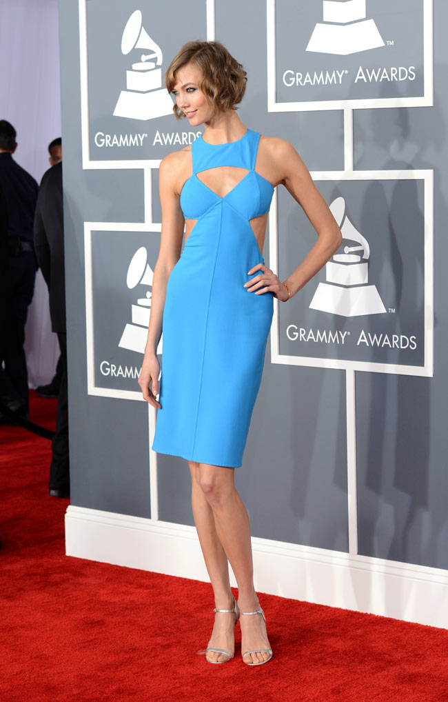 Karlie Grammys2 Karlie Kloss in Michael Kors at the 55th Annual Grammy Awards